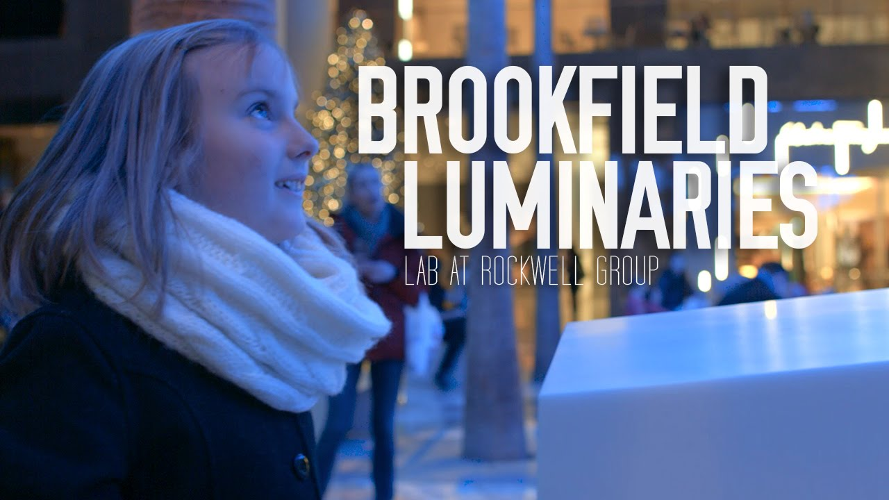 rockwell group luminaries installation at brookfield place youtube