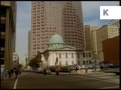 1990s Philadelphia Streets and Skyscrapers, USA Archive Footage