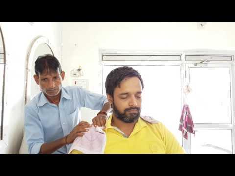 ASMR complete road side barbershop head and face massage