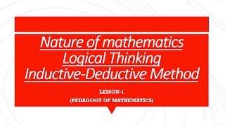 Nature of Mathematics CTET-2017 || what is pedagogy?|| CTET Maths according to syllabus