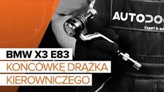 Montaż Końcówka drążka kierowniczego poprzecznego BMW X3: instrukcje wideo
