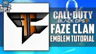"""CUSTOM FAZE EMBLEM"" - Black Ops 3 & Advanced Warfare - Customizable Faze Clan Logo Emblem Tutorial"