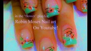 Easy Cherry Blossom Nail Art Design Tutorial for beginners