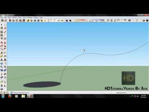 Google Skethup 8 |HDTutorialVideos| - Pipe or Wire