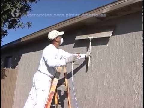 Exterior Painting With A Graco Magnum Airless Paint Sprayer Spanish Version Youtube