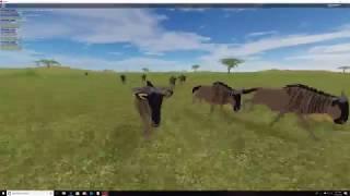 -Dancin - // Gnu herd // ROBLOX MUSIC VIDEO - WILD SAVANNAH
