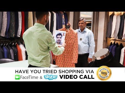 Shop Mens Sherwani, Kurta Suits, Indowestern via Facetime / Skype Video Call