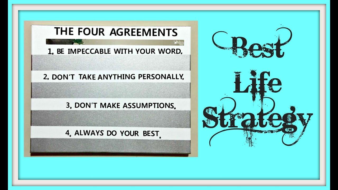 The Four Agreements Mixed Media Canvas Art Diy Thecreativelady
