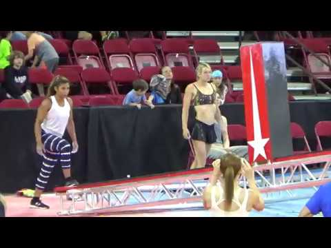 when she is watching Jessie Graff & Meagan Martin in the Finals of the Wolfpack Ninja Tour! 43017