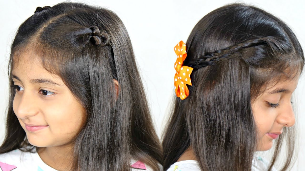 2 easy simple & cute party hairstyles