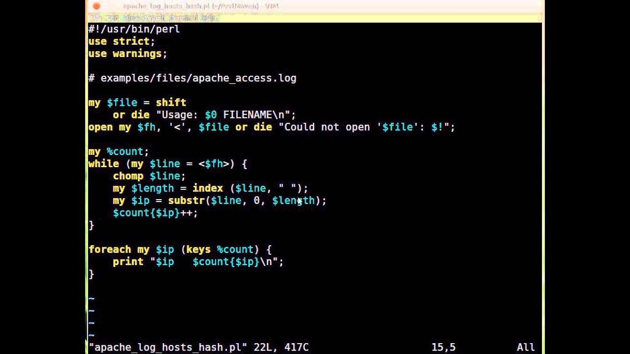 Beginner Perl Maven tutorial: 7 16 - Solution: Improve Apache log-analyzer