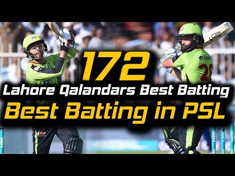Lahore Qalandars Superb Batting 172 Runs | Lahore Qalandars Vs Peshawar Zalmi | HBL PSL 2018