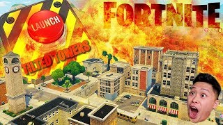 Watching *LIVE* Tilted Towers Get Destroyed Fortnite: Battle Royale