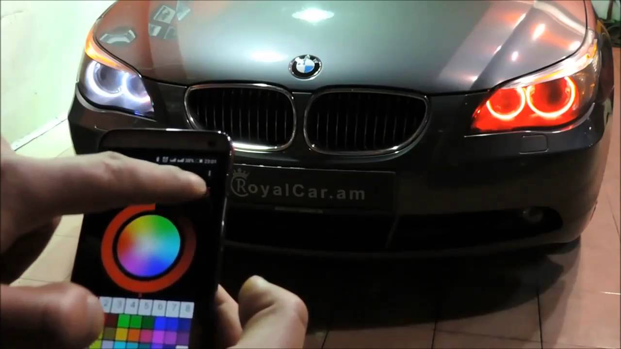 Bmw X5 E53 Amp Bmw 5 Series E60 Color Changing Angel Eyes