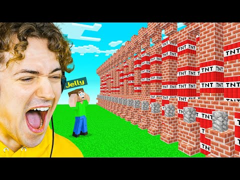 BLOWING Jelly's WALL UP In Minecraft! (Bee Town)