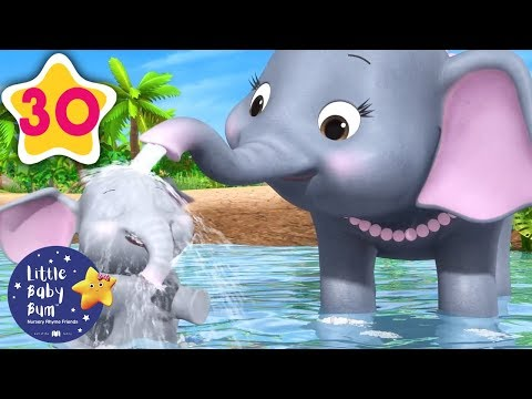 5 Elephants Having A Wash | +30 Minutes of Nursery Rhymes |