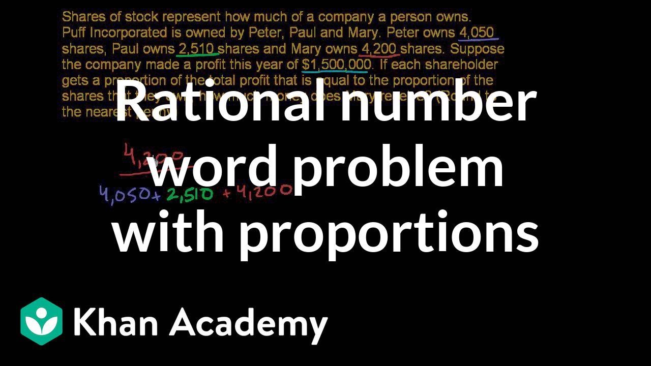 Rational number word problem: stock (video) | Khan Academy