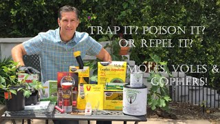 MOLES, VOLES & GOPHERS: Traps? Poisons? or Repellents? Explained by Biologist, Charles J. Malki