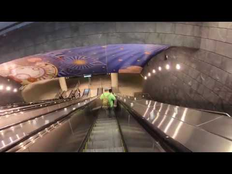 New York City SUBWAY HUDSON YARDS - Javits Center To Times Square NYC 2018 June Unedited Real Sounds