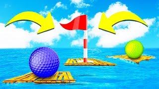 КТО ИЗ ДВОИХ СМОЖЕТ ЗАБИТЬ В ЭТУ ЛУНКУ ПЕРВЫМ? ПРОШЛИ МЕГА 99% СЛОЖНУЮ ЛУНКУ В ГОЛЬФ ИТ (Golf It)