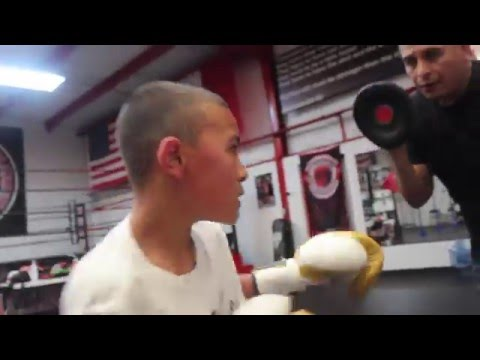 11 year old boxing prodigy Tyler Dominguez putting in work