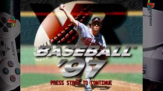 VR Baseball '97 - Gameplay Footage - PS1/PSX/PSOne - Retroarch 1080p