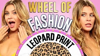 LEOPARD PRINT Challenge?! Wheel of Fashion w/ Caci Twins