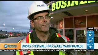 Surrey Strip Mall Fire Causes Major Damage