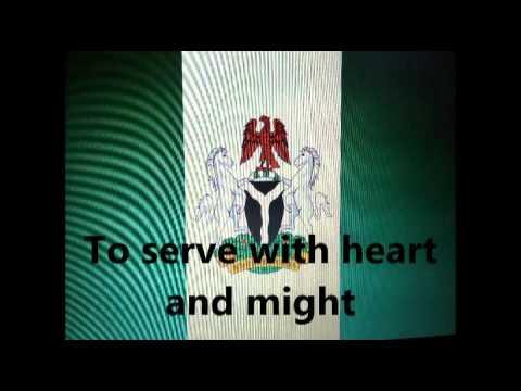 Nigerian National Anthem lyrics  with wording