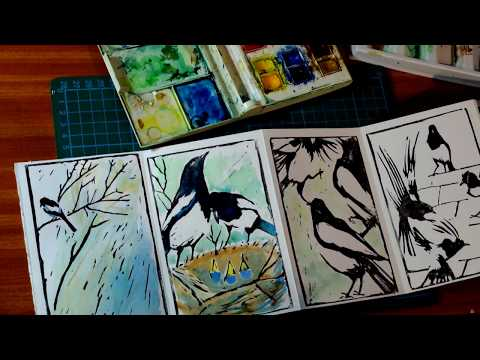 Making my Magpie Rhyme book.