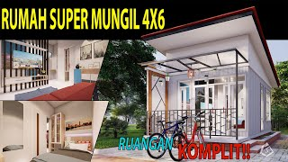 Desain Rumah 4x6m Tiny House Super Mungil