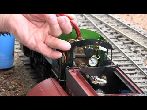 Preparing A Live Steam Model Train