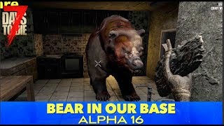 7D2D | Zombie Bear In Our Base (E179)