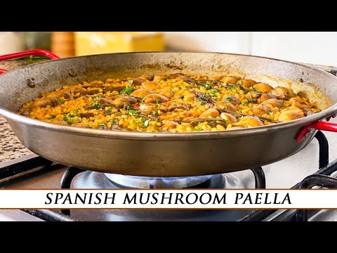 Spanish Mushroom Paella | The Meatiest Vegetable Paella