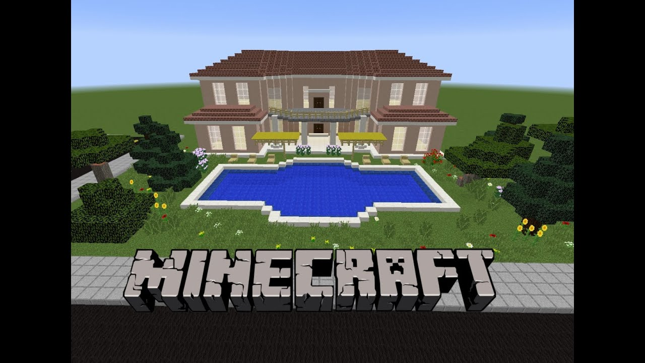 Minecraft havuzlu villa yap m 3 youtube - Minecraft villa ...
