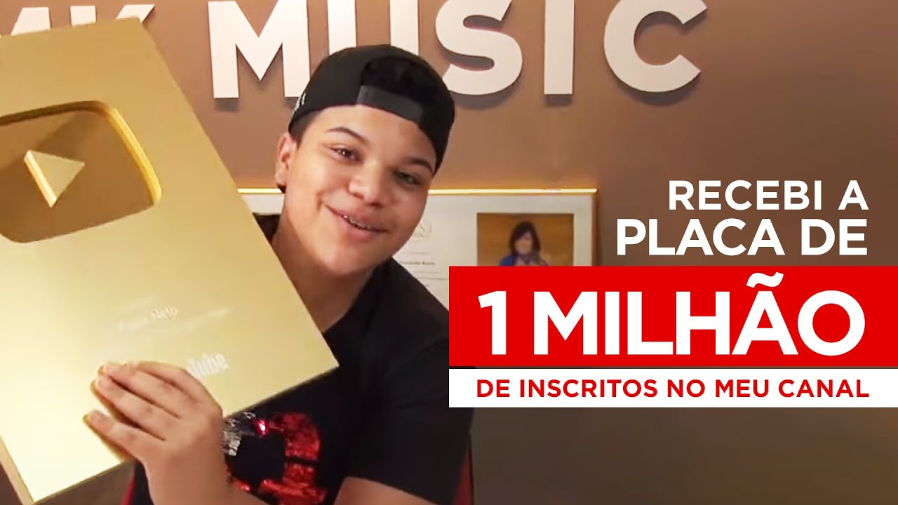 RECEBI A PLACA DE 1 MILHÃO DE INSCRITOS NO MEU CANAL | Paulo Neto