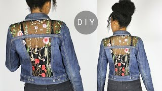 DIY Embroidered Sheer Cut Out …