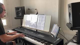 When i was your man,piano cover with yamaha mx88.