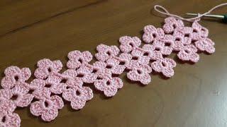 Tığişi örgü havlu kenarı modeli yapımı & Crochet