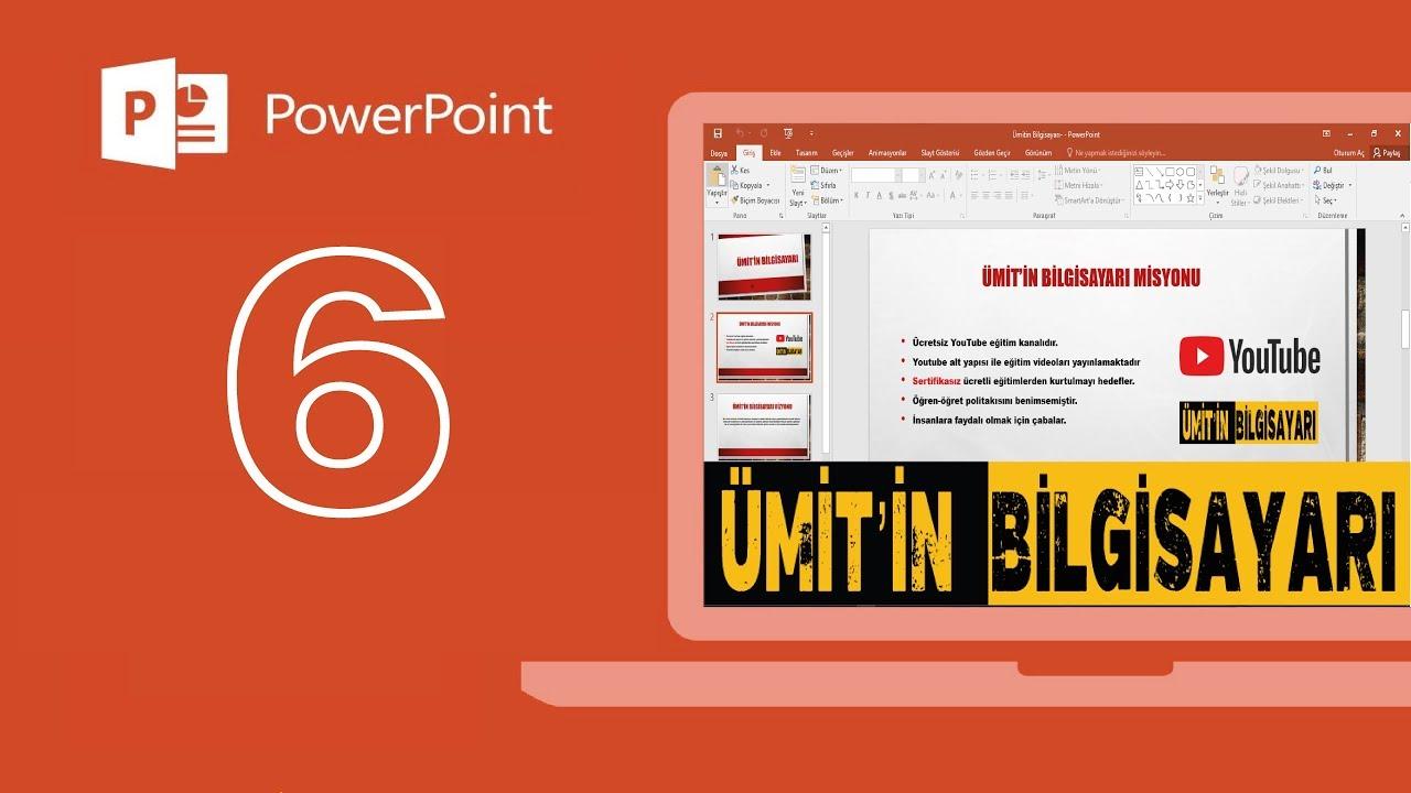 Microsoft Powerpoint Arka Plan Ekleme Ve Düzenleme Youtube