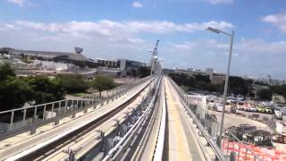Tren aeropuerto de Miami  renta de autos terminales   Train Miami Airport to renting lot HD