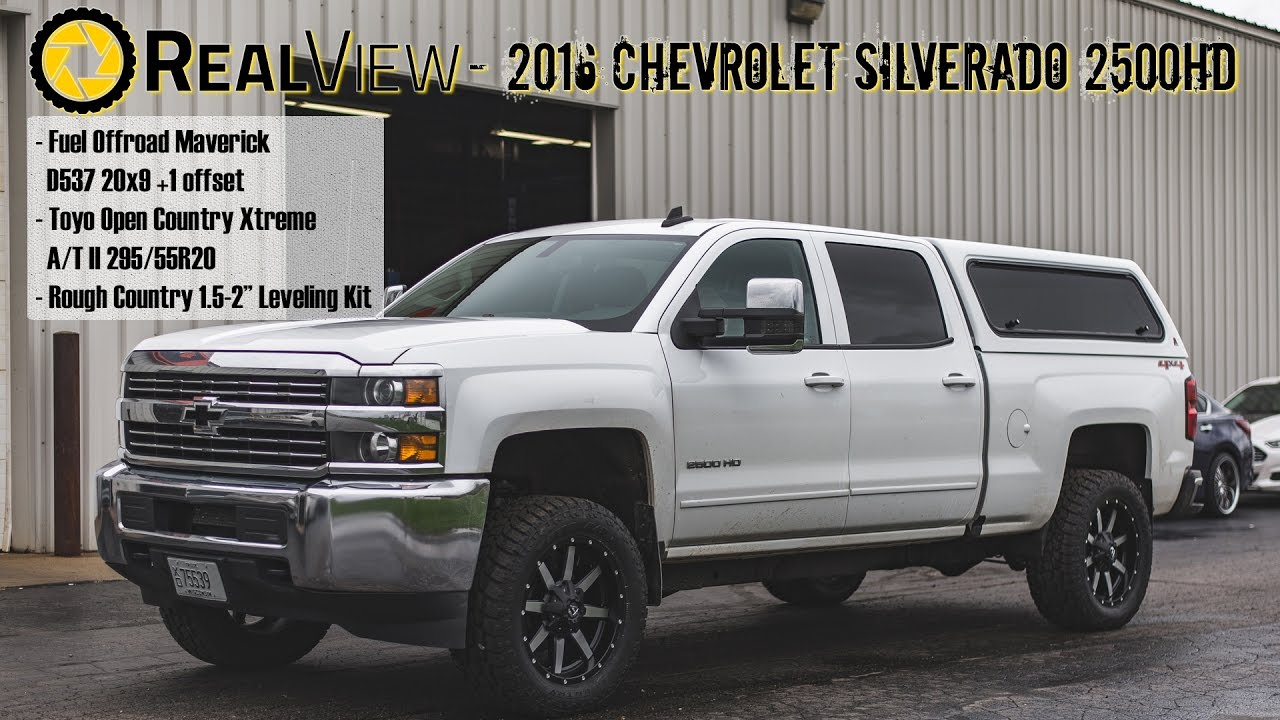 "RealView - Leveled 2016 Chevy Silverado 2500 w/ 20"" Fuel ..."