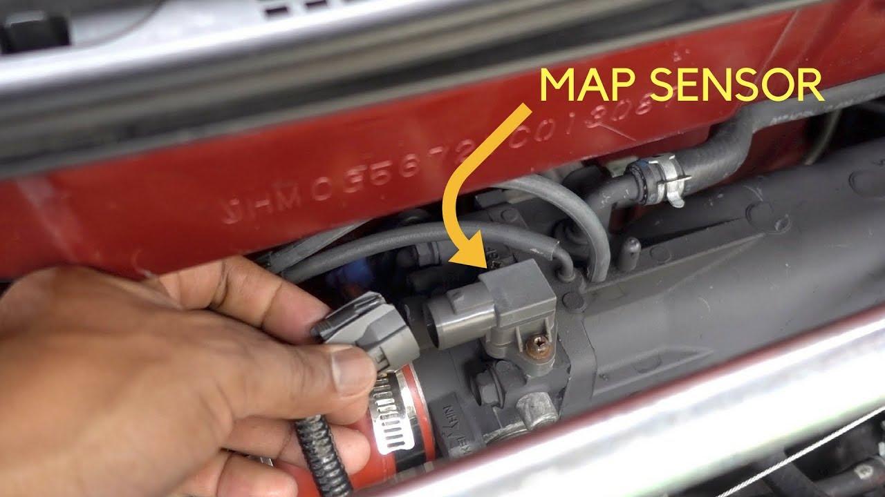 p0108 map sensor signal high honda accord youtube