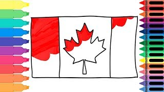 How to Draw the Canadian Flag - Drawing the Canada Flag - Art Colors for Kids | Tanimated Toys