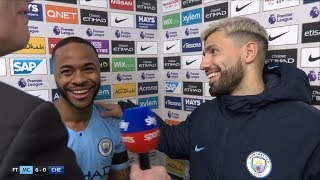 Raheem Sterling heaps praise on Sergio Aguero after his hat-trick heroics in 6-0 win over Chelsea