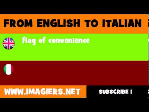 How to say flag of convenience in Italian