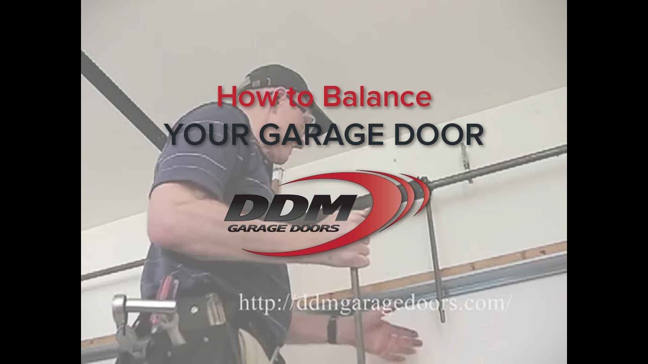 How To Balance Your Garage Door Youtube See Thisit39s Wiring It39s For Doors Lights