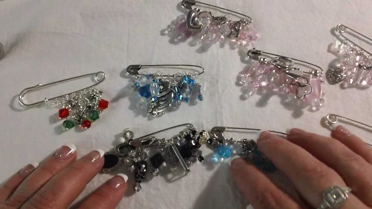 Safety Pin Brooch Lots Of Them I Am Addicted Youtube