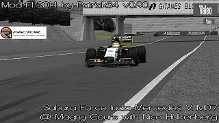 [rFactor] Sahara Force India-Mercedes VJM07 @ Magny-Cours with Nico Hulkenberg [HD]