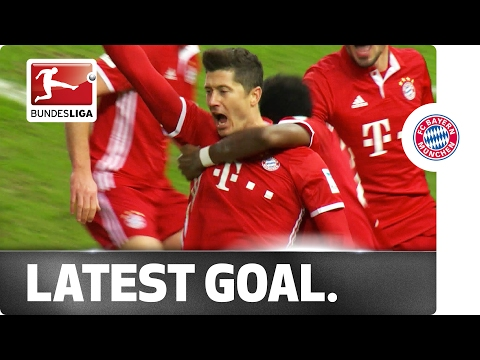 Neuer goes forward, lewandowski scores -  latest goal in bundesliga history
